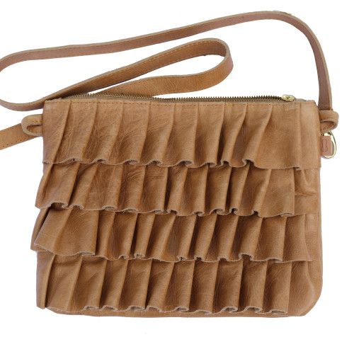 pleat sling hazelnut