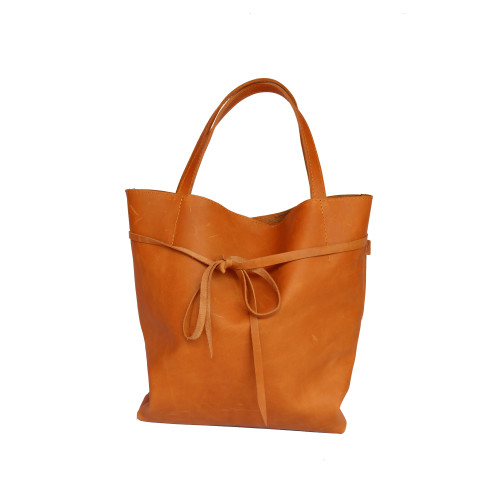 tan tote bag front